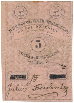 Mława, Julius Freudenberg, 5 kopiejek = 10 groszy (XIX w.)
