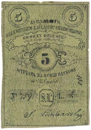 Mława, S. Lidzbarski, 5 kopiejek = 10 groszy (XIX w.)
