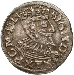 Zygmunt IIII Waza, Trojak Poznań 1596 - data na Rw.