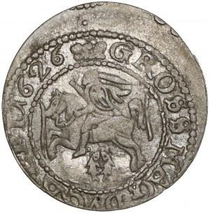 Zygmunt III Waza, Grosz Wilno 1626 - Pogoń w tarczy