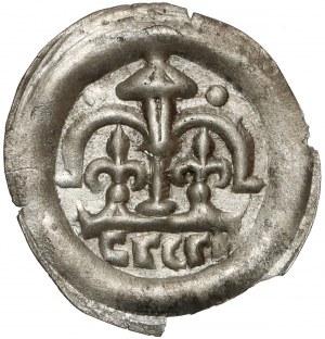 Leszek Biały(?), Brakteat - nad hebrajskimi literami lilije