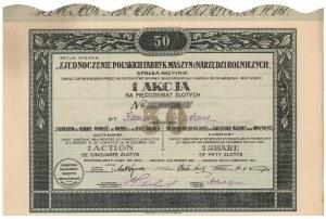 Zjednoczenie Polskich Fabryk Maszyn i Narzędzi Rolniczych, 50 zł 1921