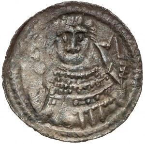 Władysław II Wygnaniec, Denar - Książę i Biskup - palisada - w szacie