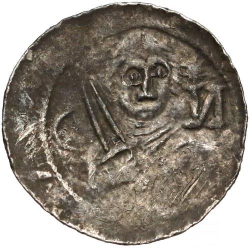 Władysław II Wygnaniec, Denar - Książę i Biskup - łuk, gwiazda i И