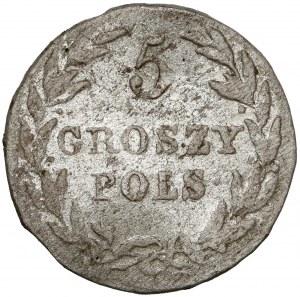 5 groszy polskich 1816 IB
