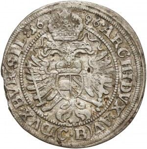 Śląsk, Leopold I, 3 krajcary 1696 CB, Brzeg