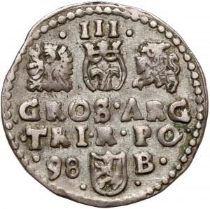 Zygmunt III Waza, Trojak Bydgoszcz 1598 - data z lewej