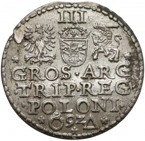 Zygmunt III Waza, Trojak Malbork 1592 - b. ładny