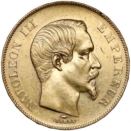 Francja, Napoleon III, 50 franków 1857-A, Paryż
