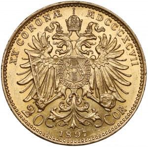 Austria, Franciszek Józef I, 20 koron 1897