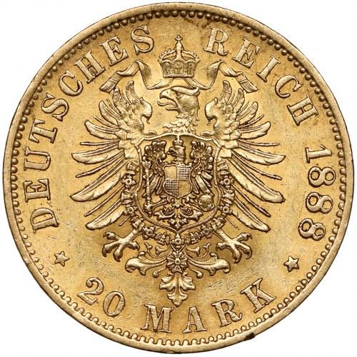 Niemcy, Prusy, 20 marek 1888-A - Fryderyk III