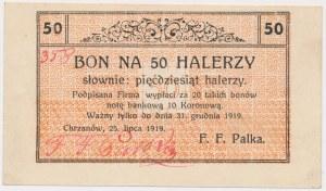 Chrzanów, Fabryka Wyrobów Masarskich F.F. Palka, 50 halerzy 1919