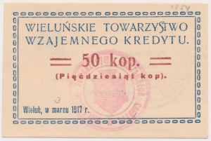 Wieluń, TWK 1917 Marzec 50 kopiejek - ramka z owali
