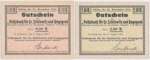 Gross-Schliwitz (Śliwice), 1/2 i 2 mk 1914 (2szt)