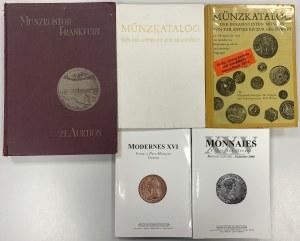 Katalogi monet zagranicznych (5szt)