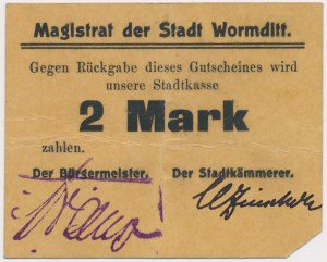 Wormditt (Orneta), 2 mk