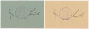 Wreschen (Września), 1/2 i 2 mk 1914 (2szt)
