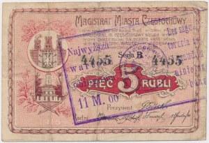 Częstochowa, 5 rubli 1915 PRZEDRUK na 11 mk