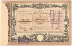 Tow. Kolei Lwów-Czerniowice-Jassy, Em.2, 200 zł reńskich 1868