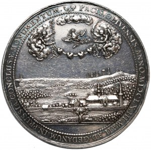 Jan II Kazimierz, Medal Pokój w Oliwie 1660 r. (Höhn)