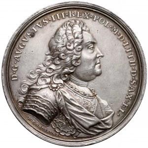 August III Sas, Medal koronacyjny 1734 r.