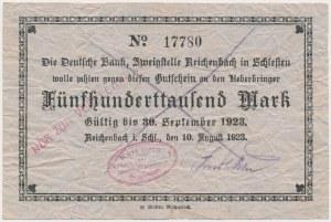 Reichenbach (Dzierżoniów), 500.000 mk 1923