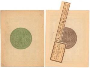 Kraków, Poż. Konwersyjna Stoł. Król. Obligacje 10 zł i 210 zł 1929 (2szt)