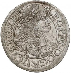 Wrocław, Leopold I, 3 krajcary 1668 SHS, Wrocław