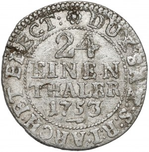 August III Sas, 1/24 talara 1753 FWóF, Drezno