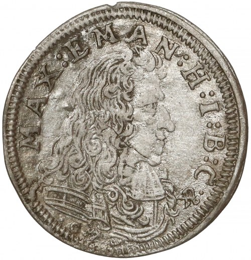 Niemcy, Bawaria, Maksymilian II Emanuel, 3 krajcary 1690