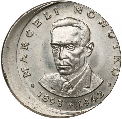 DESTRUKT 20 złotych 1974 Nowotko - NIECENTRYCZNE BICIE