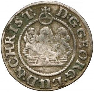 Śląsk, Trzej Bracia, 1 krajcar 1654, Brzeg