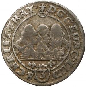 Śląsk, Trzej Bracia, 3 krajcary 1658-EW, Brzeg