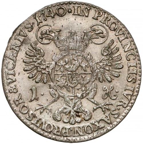 August III Sas, Grosz wikariacki 1740