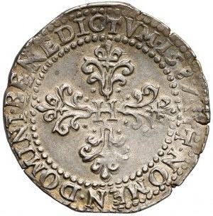Henryk Walezy, 1/2 franka 1587-B, Rouen