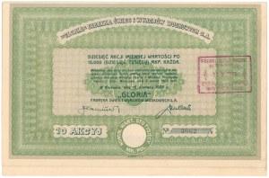 GLORIA Fabryka Świec i Wyrobów Woskowych, 10x 10.000 mkp 1923
