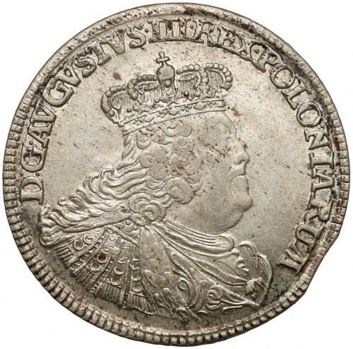 August III Sas, Ort Lipsk 1756 EC - małe popiersie