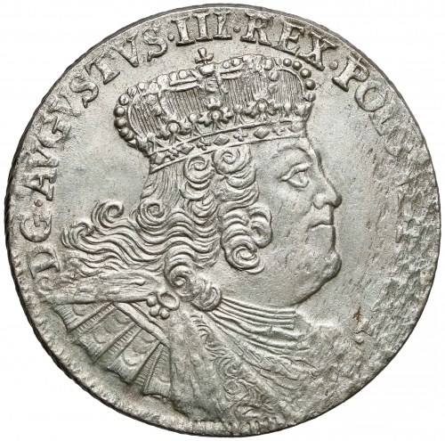 August III Sas, Ort Lipsk 1756 EC - duże popiersie