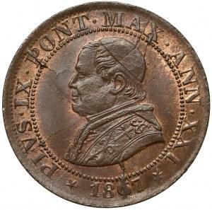 Vatican City, Pius IX, 1/2 Soldo 1867