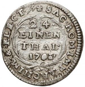 August II Mocny, 1/24 talara 1703 ILH, Drezno