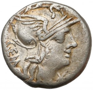 Roman Republic, Geminus, Brockage AR Denarius