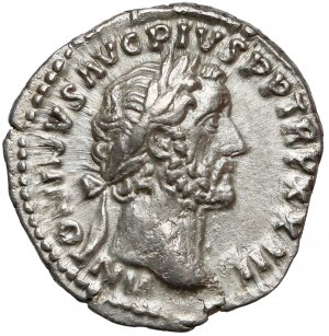 Cesarstwo Rzymskie, Antoninus Pius, Denar Rzym (159-160) - Roma