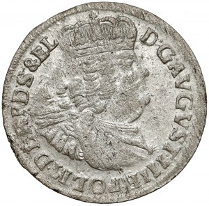 August III Sas, Szóstak Gdańsk 1763 REOE - data rozdzielona
