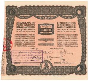 Zakłady Przemysłowe KAROL MACHLEJD, 5x 1.000 mkp 1921