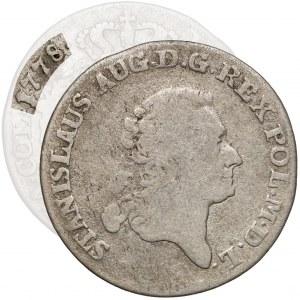 Poniatowski, Złotówka 1778 E.B. - bardzo rzadka