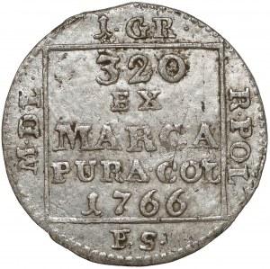 Poniatowski, Grosz srebrny 1766 F.S. - duża korona