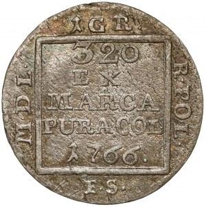 Poniatowski, Grosz srebrny 1766 F.S. - mała korona