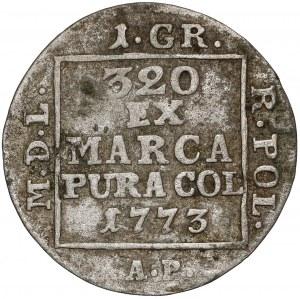 Poniatowski, Grosz srebrny 1773 A.P. - bardzo rzadki