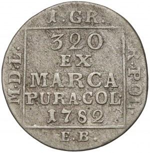 Poniatowski, Grosz srebrny 1782 E.B. - rzadki