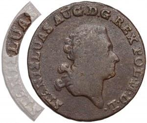 Poniatowski, Trojak 1790 E.B., Warszawa - błąd STANISLUAS - b.rzadki
